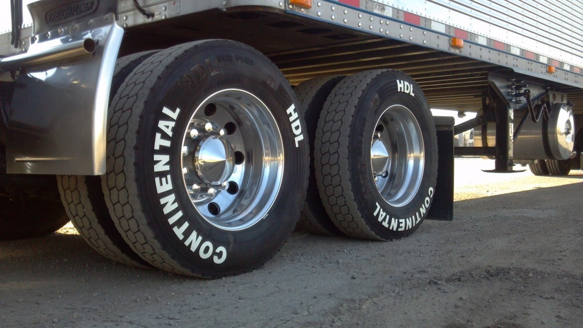 Tires on a fleet vehicle